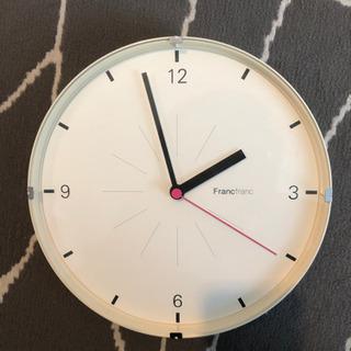 【差し上げます】ジャンク品Francfranc掛け時計
