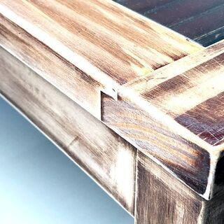 アジアン家具 ウ゛ィンテージ風 コーヒーテーブル センターテーブル 天板ガラス - 家具
