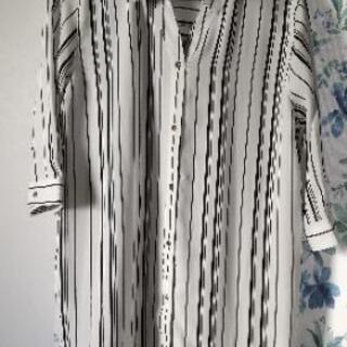 【取引完】7部袖羽織型ロングブラウス 試着のみ <無料>