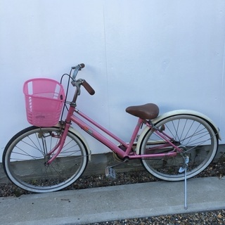 最終値下げおトク!安全点検済みイオン製22インチ女児自転車ピンク