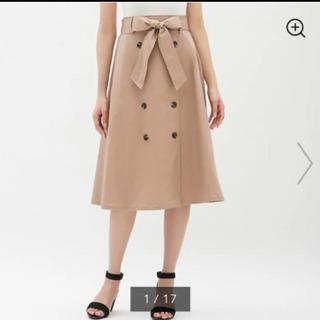 GU  トレンチフレアスカート ベージュ Mサイズ