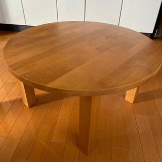 丸テーブル ちゃぶ台 良品計画の画像