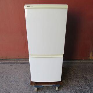 【動作確認済】シャープ 2ドア冷蔵庫 SJ-614-W 2007...