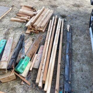 無料 DIY用に ツーバイフォー材 廃材 端材 いろいろ 黒ベニヤ
