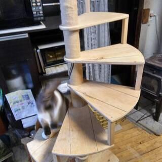 キャット螺旋階段 オーダーメイドで製作します。  ※動画あ…