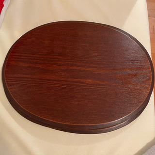 木製の丸型お盆 ランチョンマット 残2枚