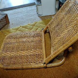 【ネット決済】折りたたみ籐座椅子