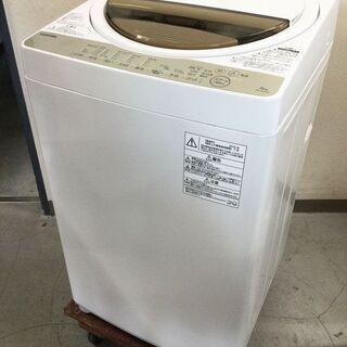 東芝 TOSHIBA 洗濯機 6㎏ AW-6G5 2016年製 パワフル浸透洗浄 ふろ水ポンプ付きの画像