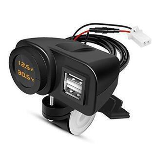 バイク用USB電源・シガー電源取り付けます。