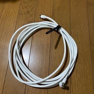 500円で。日本アンテナ製TVアンテナケーブル5m