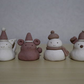 親子陶芸体験⭐︎クリスマス人形