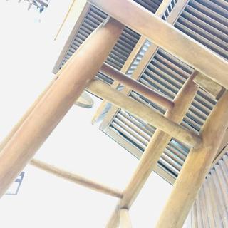 〈〉オールメゾン スツール ヴィンテージ調 木製 カウンターチェア - 家具
