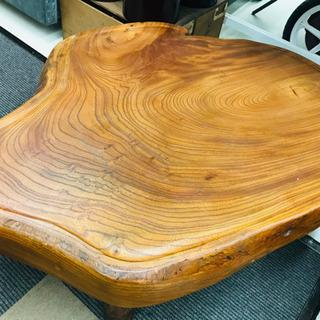 〈〉欅 座卓 ローテーブル 木製 古風  - 家具