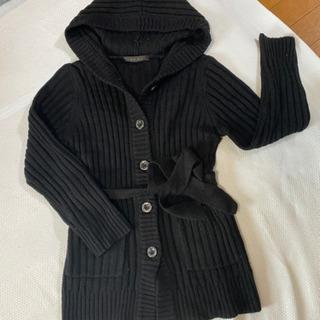 レディース  コート 厚めのカーディガン 黒 L