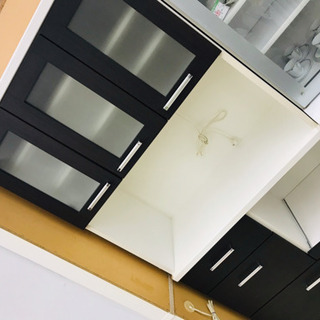 〈〉レンジボード レンジ台 キッチン収納 収納棚 食器棚 キッチン家電 ブラウンの画像