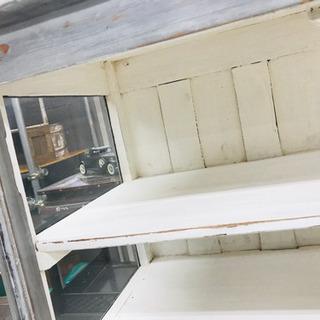 〈〉アンティーク 食器棚 収納棚 キャビネット ヴィンテージ - 家具