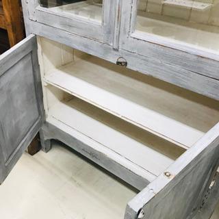 〈〉アンティーク 食器棚 収納棚 キャビネット ヴィンテージ - 鯖江市