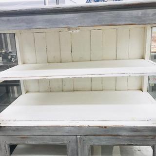〈〉アンティーク 食器棚 収納棚 キャビネット ヴィンテージ − 福井県
