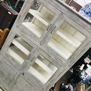 〈〉アンティーク 食器棚 収納棚 キャビネット ヴィンテージ