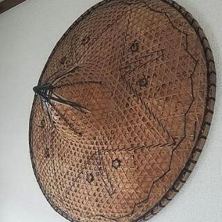 アジアンテイストの藤編笠
