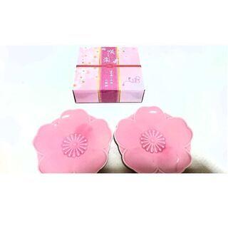 【未使用】桜の小さい和皿2枚