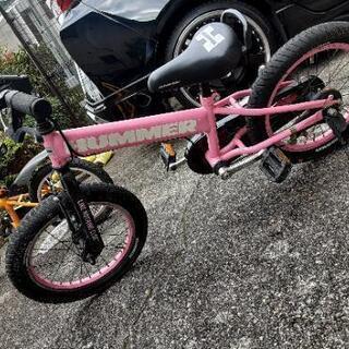 ハマー子供自転車16インチピンク