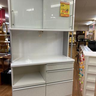 R085 高級松田家具 食器棚・レンジボード・キッチンボード 幅118cmの画像