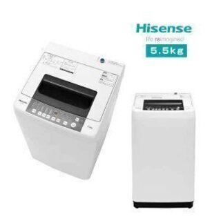 洗濯機 5.5kg ハイセンス【2019年製】