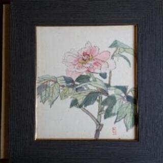 甲斐人代(カイヒトヨ) 夏五月 水彩 色紙 額付き 1943年制...