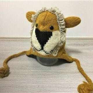 ライオンの子供用ニット帽 500円