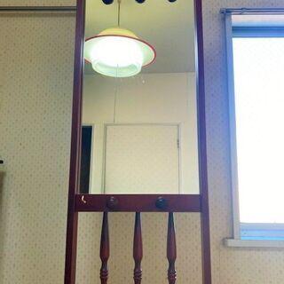 ★値下げ中!!USED・高さ170㎝×横36㎝!!鏡付きの傘立て・玄関に★ - 売ります・あげます