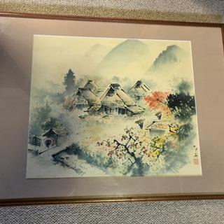 応相談 茅葺屋根 画 骨董 絵画 絵 アンティーク 伝統文化 歴...