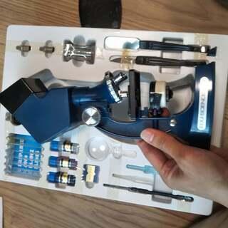 (取引中)子供用の顕微鏡 エデュサイエンスT-900 不具合あり