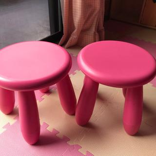 IKEA 子供部屋 椅子セット ピンク