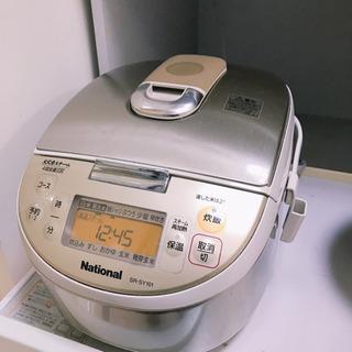 【ネット決済・配送可】【値下げ】National 炊飯器5.5合炊き