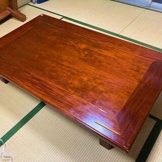 ★お取引中・USED・150㎝×90㎝×33㎝!脚が折り畳み可能・木製の座卓★の画像