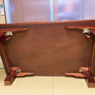 ★お取引中・USED・150㎝×90㎝×33㎝!脚が折り畳み可能・木製の座卓★ - 萩市