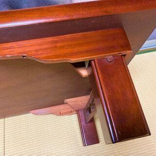 ★お取引中・USED・150㎝×90㎝×33㎝!脚が折り畳み可能・木製の座卓★ - 家具