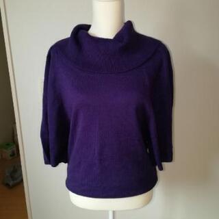 紫 セーター