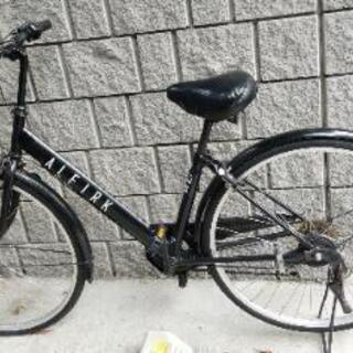 【ALFIRK】自転車 6段変速 ブラック