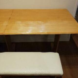 ◆受け渡し済◆伸長式ダイニングテーブル 貰ってくださいの画像
