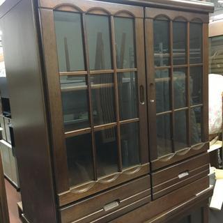 【古物商許可証認証待ち】多用途棚 本棚 ガラス戸収納棚