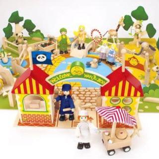 【美品】木製おもちゃMy exciting Zooヨーロッパ動物...