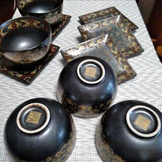 美品 瑞陶 茶器 湯呑5客、菓子うけ皿5枚セット 湯のみ