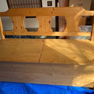 収納木製ベンチ