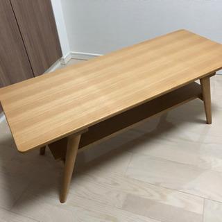 【ニトリ】棚付き天然木センターテーブル(セーブル2 LBR)