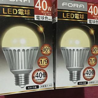 FORA LED電球 40w 電球色×3の画像