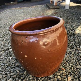 カメ ツボ 壺 直径22cm 高さ22cm