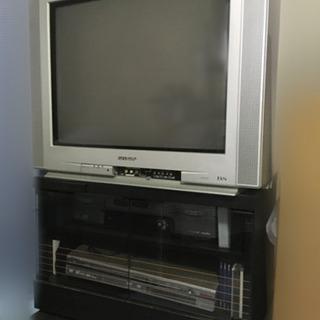 SHARP ブラウン管テレビ テレビ台付き