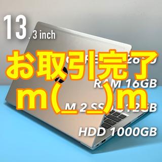 美品・2019年製モバイルノート/4コアi5/メモリ16G…